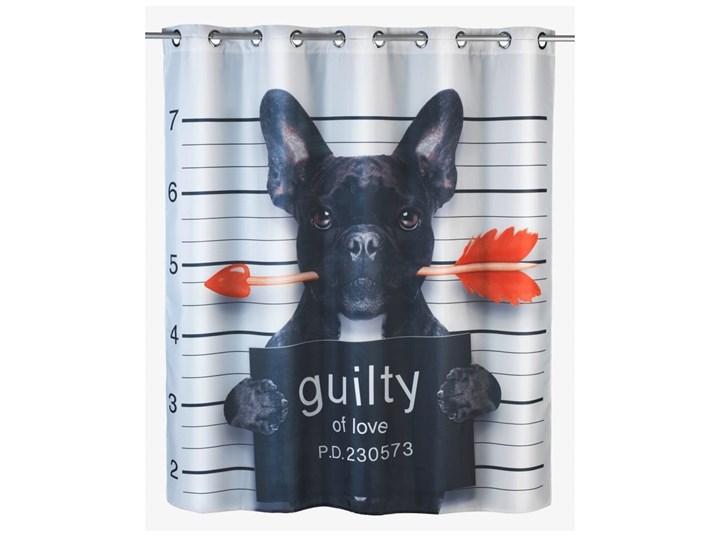 Zasłona prysznicowa z warstwą przeciw pleśni Wenko Pupppy, 180x200 cm