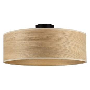 Lampa sufitowa z kloszem z drewna dębowego Sotto Luce TSURI XL