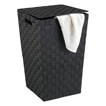 Czarny kosz na pranie Wenko Adria