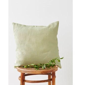 Jasnozielona lniana poszewka na poduszkę Linen Tales, 45x45 cm