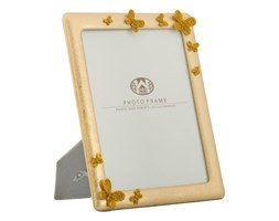 Ramka na zdjęcie w kolorze złota z motylkami Mauro Ferretti, 25x30 cm