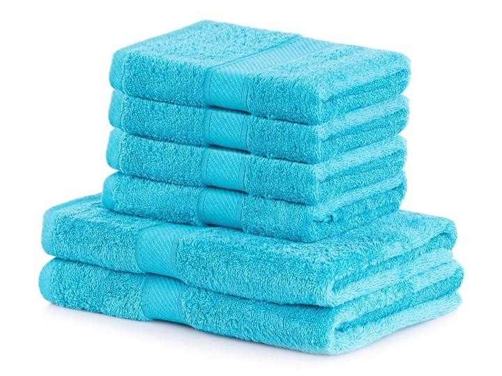 Komplet 6 turkusowych ręczników AmeliaHome Bamby Turquoise Bawełna 70x140 cm Ręcznik kąpielowy 50x100 cm Komplet ręczników Bambus Kategoria Ręczniki