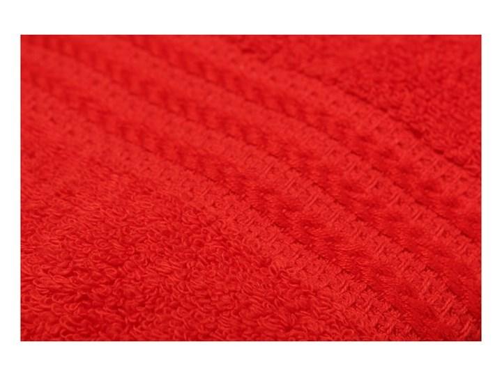 Zestaw 4 czerwonych ręczników bawełnianych Rainbow, 50x90 cm Bawełna Komplet ręczników Łazienkowe Ręcznik kąpielowy Frotte Kategoria Ręczniki