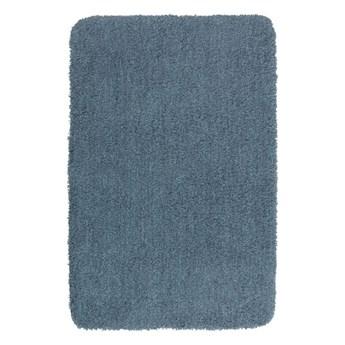 Ciemnoniebieski dywanik łazienkowy Wenko Mélange, 65x55 cm