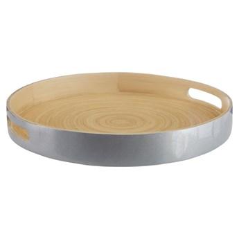 Bambusowa taca w kolorze srebra Premier Housewares, ⌀ 35 cm
