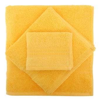 Zestaw 3 żółtych bawełnianych ręczników Rainbow