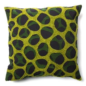 Czarno-zielona poszewka na poduszkę La Forma Adila, 45x45 cm