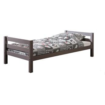 Szare łóżko dziecięce Vipack Pino, 90x200 cm