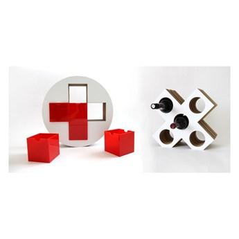 Zestaw dwuczęściowy czerwona apteczka i stojak na wino Unlimited Design For Children