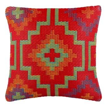 Pomarańczowo-fioletowa poduszka na zewnątrz Fab Hab Lhasa Orange & Violet, 42x42 cm