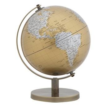 Dekoracja na stół w kolorze złoto-srebrnym Mauro Ferretti Globe, wysokość 28 cm