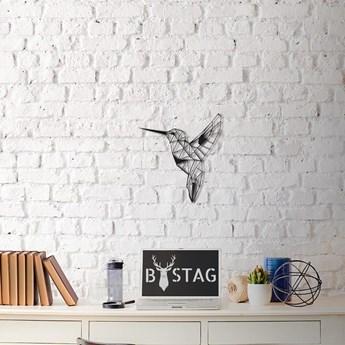Metalowa dekoracja ścienna Hummingbird, 49x43 cm