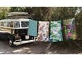 Ręcznik Madre Selva Palm Town, 150x90 cm Kolor Brązowy Ręcznik kąpielowy 90x150 cm Bawełna Kategoria Ręczniki
