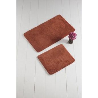 Komplet 2 czerwonych dywaników łazienkowych Colors of Square