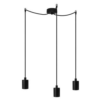 Czarna lampa wisząca z 3 kablami Bulb Attack Cero Basic