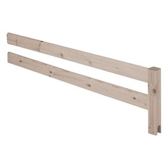 Brązowa barierka z drewna sosnowego do łóżka Flexa Classic, dł. 157cm