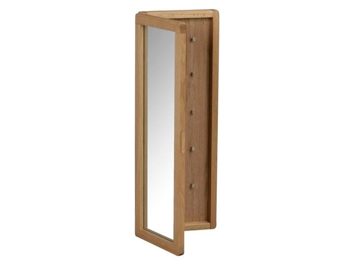 Naturalna szafka dębowa na klucze z lustrem Rowico Metro Szafka na klucze Drewno Kategoria Szafki i wieszaki na klucze Kolor Brązowy