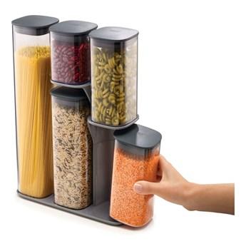 Zestaw 5 pojemników na żywność ze stojakiem Joseph Joseph Podium