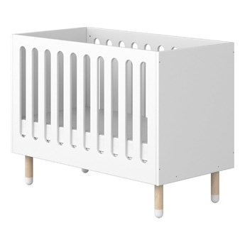 Białe łóżeczko dziecięce Flexa Dots, 60x120 cm