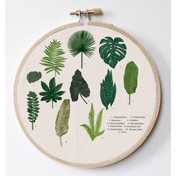 Dekoracja ścienna Surdic Stitch Hoop Leafes Index, ⌀ 27 cm