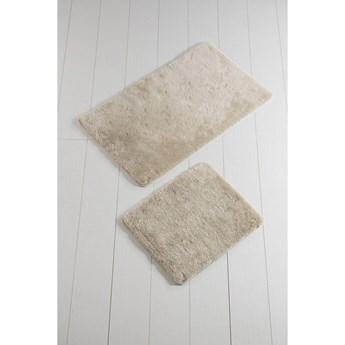 Komplet 2 beżowych dywaników łazienkowych Colors of Square