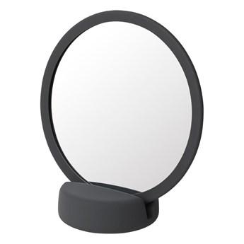 Szaroczarne lusterko kosmetyczne Blomus, wys. 18,5 cm