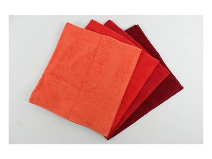 Zestaw 4 czerwonych ręczników bawełnianych Rainbow, 50x90 cm Komplet ręczników Ręcznik kąpielowy Frotte Bawełna Łazienkowe Kategoria Ręczniki