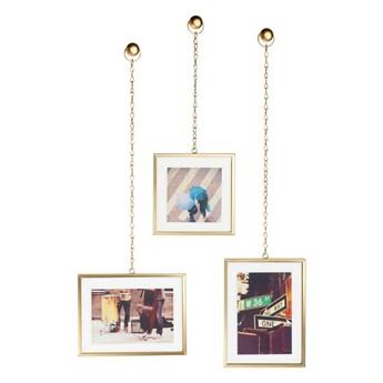 Zestaw 3 wiszących ramek na zdjęcia w kolorze złota Umbra Angle