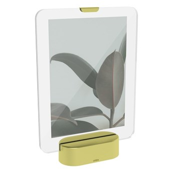 Ramka LED na zdjęcia z podstawą w kolorze złota Umbra Glo, 13x18 cm
