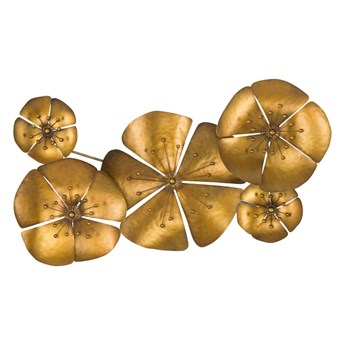 Dekoracja ścienna w złotej barwie Mauro Ferretti Goldie, 94x50 cm