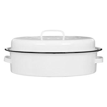 Białe naczynie emaliowane do zapiekania Premier Housewares