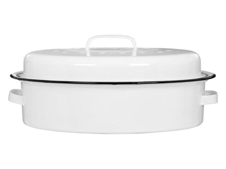 Białe naczynie emaliowane do zapiekania Premier Housewares Stal Naczynie do zapiekania Kolor Biały