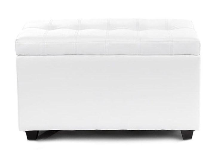 Biała ławka ze schowkiem Tomasucci Nice Pikowana Skrzynia Kolor Biały Materiał obicia Skóra ekologiczna