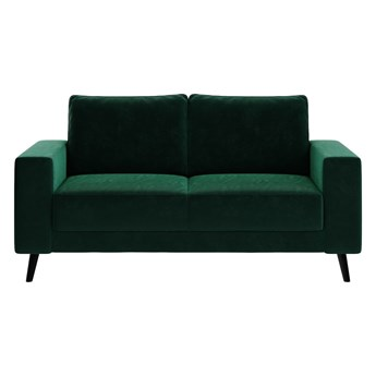 Ciemnozielona aksamitna sofa Ghado Fynn, 168 cm