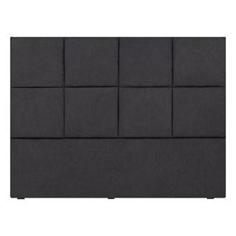 Ciemnoszary zagłówek łóżka Mazzini Sofas Barletta, 180x120 cm