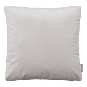 Jasnoszara poszewka na poduszkę z efektem aksamitu Blomus, 45x45cm