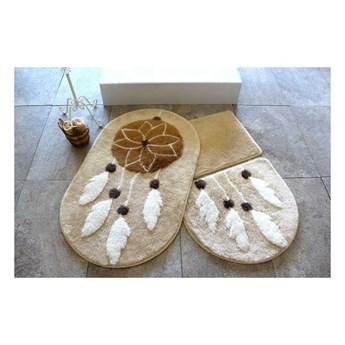 Zestaw 3 dywaników łazienkowych Confetti Bathmats Indian