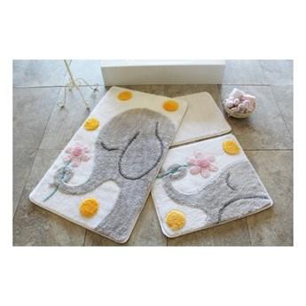 Zestaw 3 dywaników łazienkowych Buyuk Fil Grey
