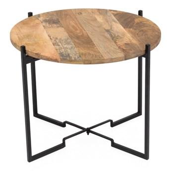 Stolik z konstrukcją z żelaza WOOX LIVING Fera, ⌀ 53 cm