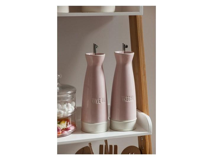 Zestaw 2 różowych butelek kamionkowych na olej i ocet Premier Housewares, 528 ml Zestaw do przypraw Pojemnik na ocet i oliwę Stal nierdzewna Kategoria Przyprawniki
