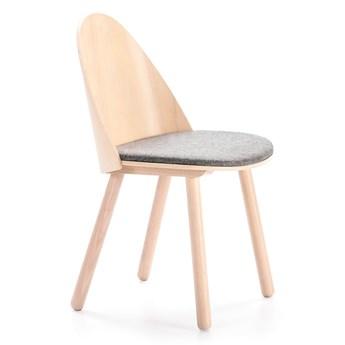 Krzesło z szarym siedziskiem Teulat Uma