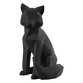 Matowa czarna figurka w kształcie lisa PT LIVING Origami Fox, wys. 26 cm