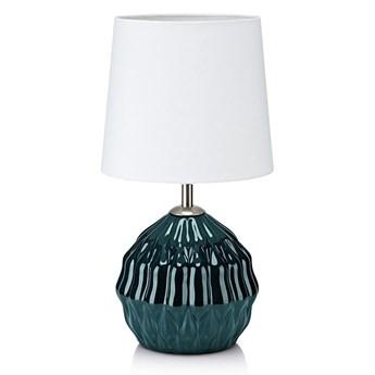 Zielono-biała lampa stołowa Markslöjd Lora
