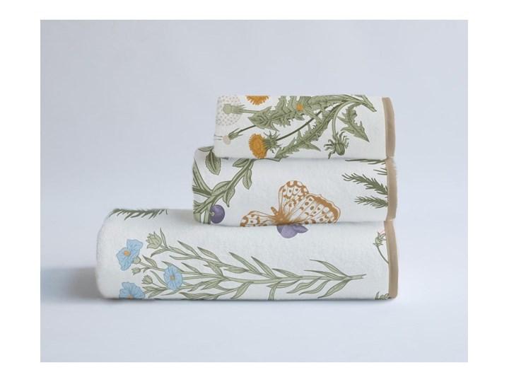 Komplet 3 ręczników z bawełny i mikrowłókna Surdic Herbs 30x40 cm Komplet ręczników Bawełna 60x140 cm 40x90 cm Kolor Szary