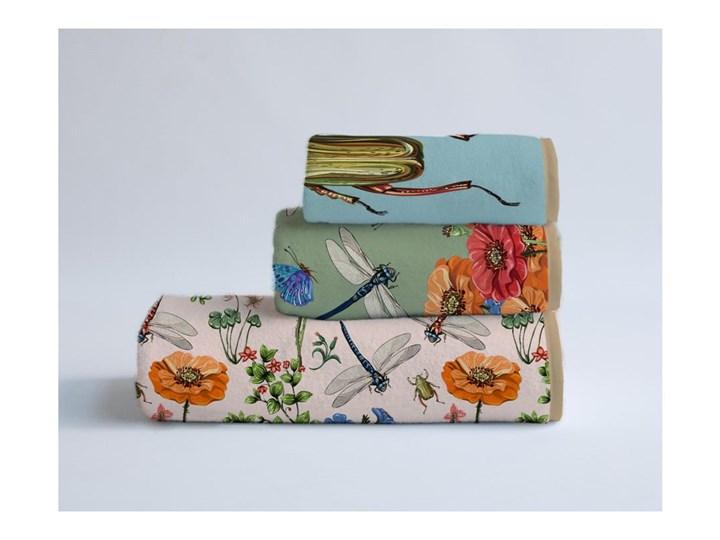 Zestaw 3 ręczników Madre Selva Tierra Bella Komplet ręczników 40x90 cm 60x140 cm Młodzieżowe Bawełna Ręcznik kąpielowy 30x40 cm Łazienkowe Kolor Beżowy