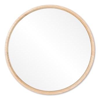 Lustro ścienne z ramą z litego drewna dębowego Gazzda Look, ⌀ 22 cm