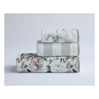 Zestaw 3 bawełnianych ręczników Velvet Atelier Beige Flowers