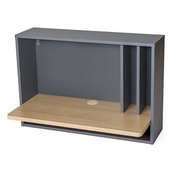 Szare biurko wiszące Woodman Minyard