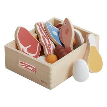 Klocki drewniane do zabawy/ryby i mięso Flexa Play Fish & meat