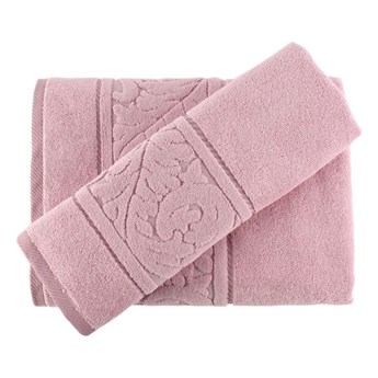 Zestaw różowego ręcznika i ręcznika kąpielowego Sultan